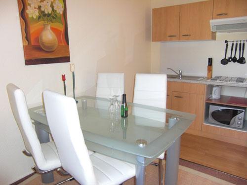 Ess- und Wohnzimmer mit Küche